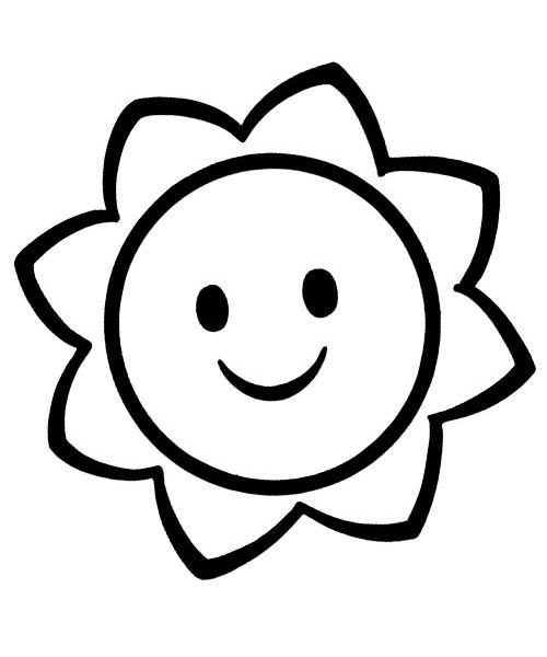 Солнышко раскраска для малышей - 6