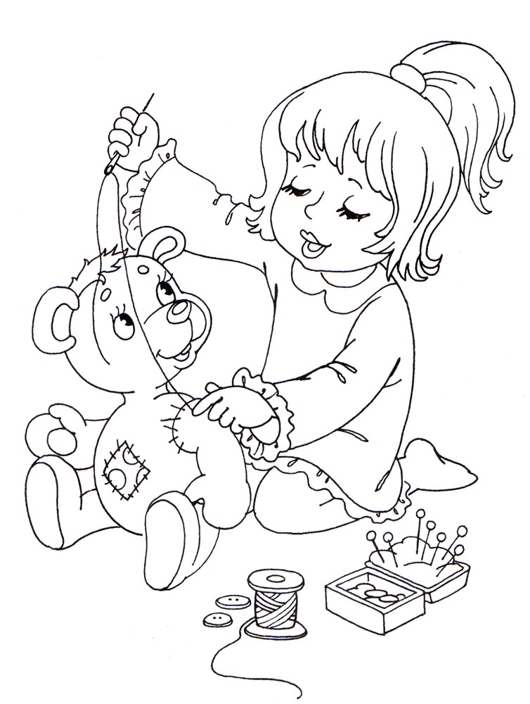 Раскраски к стихам агнии барто для детей